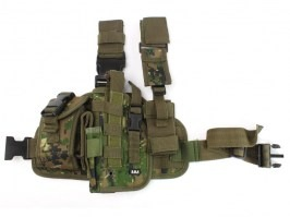 Tactical drop leg pistol holster, left - Marpat (Digital woodland) [101 INC]