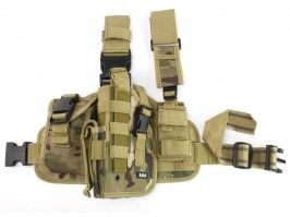 Tactical drop leg pistol holster, left - Multicam (dtc/multi) [101 INC]
