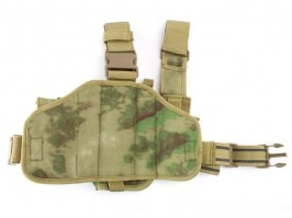 Tactical drop leg pistol holster, right - A-TACS FG [101 INC]