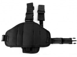 Tactical drop leg pistol holster, right - Black [101 INC]