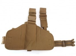Tactical drop leg pistol holster, right - Khaki [101 INC]