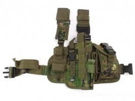 Tactical drop leg pistol holster, right - Marpat (Digital woodland) [101 INC]