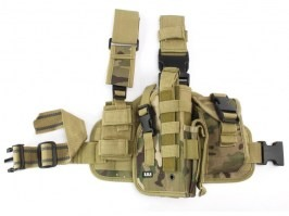 Tactical drop leg pistol holster, right - Multicam (dtc/multi) [101 INC]