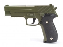 Airsoft pistol G.26 full metal spring action, P226 - green [Galaxy]