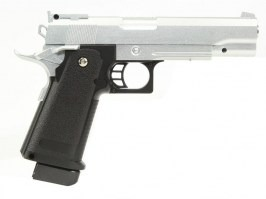 Airsoft pistol G.6 full metal spring action - silver - UNFUNCTIONAL [Galaxy]