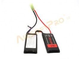 Battery Li-Po 7,4V 1600mAh 20/40C - PEQ2 type [GFC]