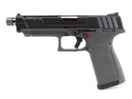 Airsoft pistol GTP9, gas blowback (GBB) - black/grey [G&G]