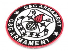 G&G Velcro Patch round - black [G&G]