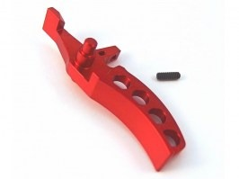 CNC CURVED trigger for Leviathan V2 - red [JeffTron]