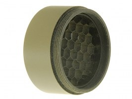 Kill Flash for riflescopes with lens diameter 24mm (tube 30mm) - TAN