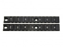 Set of 2pcs mounting CNC RIS (Picatiny) rails for G36C, long - black [JJ Airsoft]