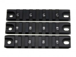 Set of 3pcs mounting CNC RIS (Picatiny) rails for G36C - black [JJ Airsoft]