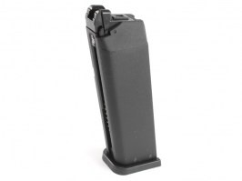 22 rounds gas magazine for KJ Works Glock series and models KP-17 / KP-18 / KP-13 [KJ Works]