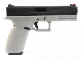 Airsoft pistol KP-13, black metal slide, blowback, CO2 - gray [KJ Works]