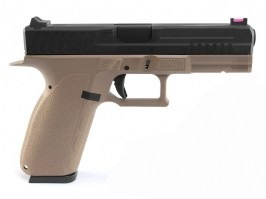 KP-13, black metal slide, blowback (GBB) - TAN [KJ Works]
