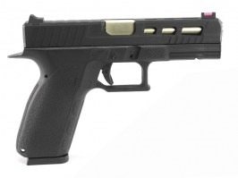Airsoft pistol KP-13C, metal slide, gold barrel, blowback (GBB) - black [KJ Works]