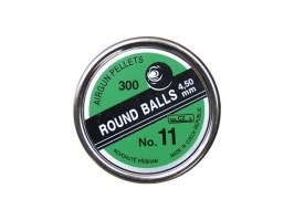 Round balls pellets no.11 4,5mm (cal .177) - 300pcs [Kovohute CZ]