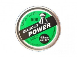 Diabolos POWER 4.5mm (cal .177) - 500pcs [Kovohute CZ]