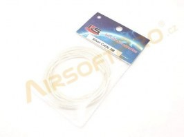 Silver plated silicon wire - 2 meter [KS]
