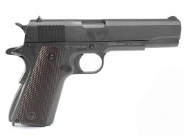 1911 CO2 blowback pistol, full metal, blowback - black [KWC]