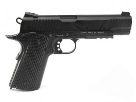 Airsoft pistol 1911 M.E.U. CO2 blowback pistol, full metal, blowback - black [KWC]