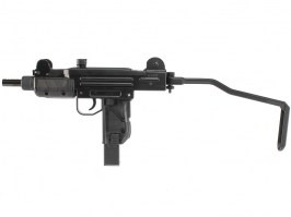 Airsoft submachine gun Mini UZI, CO2 Blowback - black [KWC]