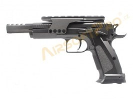 Airsoft pistol CZ75 Competition model - fullmetal, CO2 blowback [KWC]
