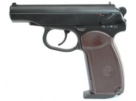 Airsoft pistol Makarov PM, CO2 Blowback version Pistol - black [KWC]