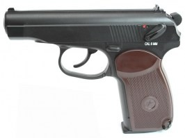 Airsoft pistol Makarov PM, CO2 non-blowback pistol - black [KWC]
