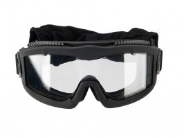 Airsoft Mask AERO Series Thermal - black, clear lens [Lancer Tactical]