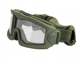 Airsoft Mask AERO Series Thermal - OD, clear lens [Lancer Tactical]