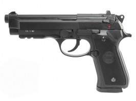 Airsoft pistol M92 gas blowback CO2 - black, full auto [KWC]