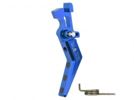 CNC Aluminum Advanced Trigger (Style A) for M4 - blue [MAXX Model]