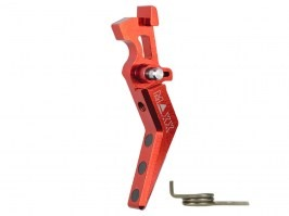 CNC Aluminum Advanced Trigger (Style A) for M4 - red [MAXX Model]