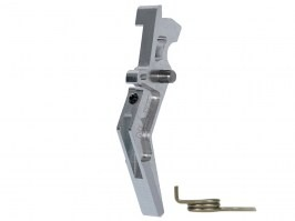 CNC Aluminum Advanced Trigger (Style A) for M4 - silver [MAXX Model]