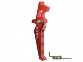 CNC Aluminum Advanced Trigger (Style E) for M4 - red [MAXX Model]
