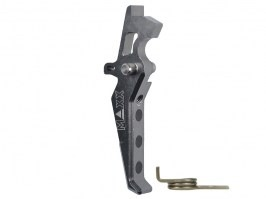 CNC Aluminum Advanced Trigger (Style E) for M4 - titan [MAXX Model]