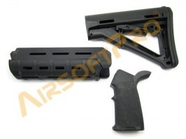 Grip, foregrip and stock kit - black [A.C.M.]