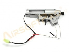Reinforced QD gearbox shell V2 with spring guide and microswitch - front wiring [Shooter]