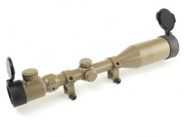 3-9x50E Illuminated scope with sun shield - FDE [Snow Wolf]