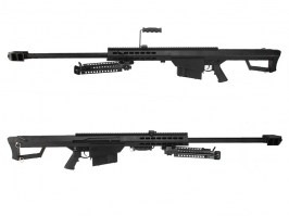 M82 A1 Barrett spring action sniper rifle, full metal, black [Snow Wolf]