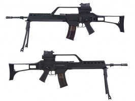 G36E with scope, red dot and bipod (SA-G13), EBB rifle replica, black [Specna Arms]