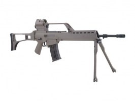 G36E with scope, red dot and bipod (SA-G13), EBB rifle replica, TAN [Specna Arms]