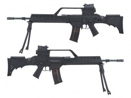 G36E with scope, red dot and bipod (SA-G13V), EBB rifle replica, black [Specna Arms]