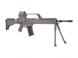 Airsoft rifle SA-G13V EBB replica with scope, red dot and bipod, TAN [Specna Arms]