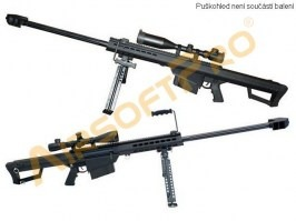 M82 BARRETT (SW-02A), full metal, bipod + scope included, black [Snow Wolf]