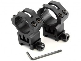 Two-part 30mm optics mount for RIS rail (high) [Theta Optics]