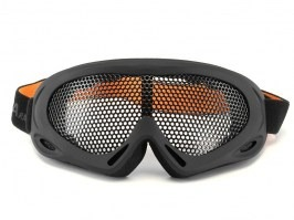 Eye protective mesh goggles - large, black