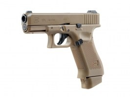 Airsoft pistol Glock 19X, metal slide, CO2 blowback - Coyote [UMAREX]