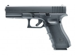 Airsoft pistol Glock 17 Gen.4, metal slide, CO2 blowback - black [UMAREX]